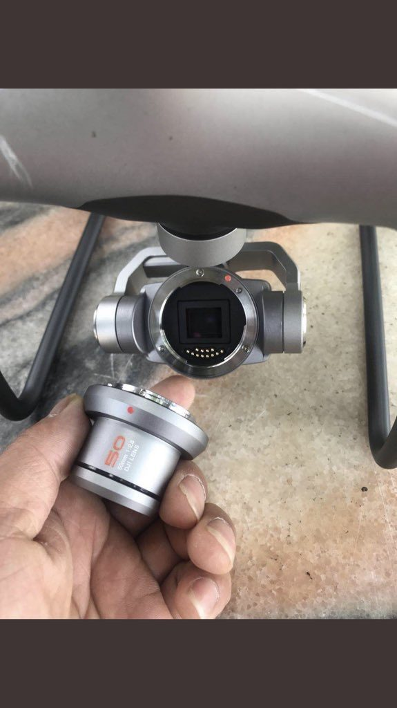 Interchangeable lens for Phantom series UAV